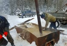 ИК АИС геологоразведка в зимних условиях